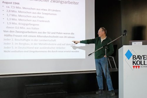 Klaus Hofmann beim Vortrag