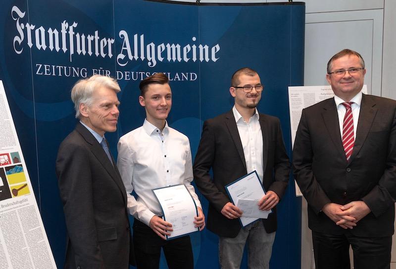 Fritz Büttner gewinnt FAZ-Preis